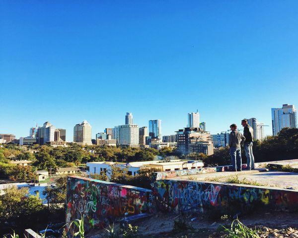City Cityscape Outdoors Austin Texas Skyline Graffiti City View