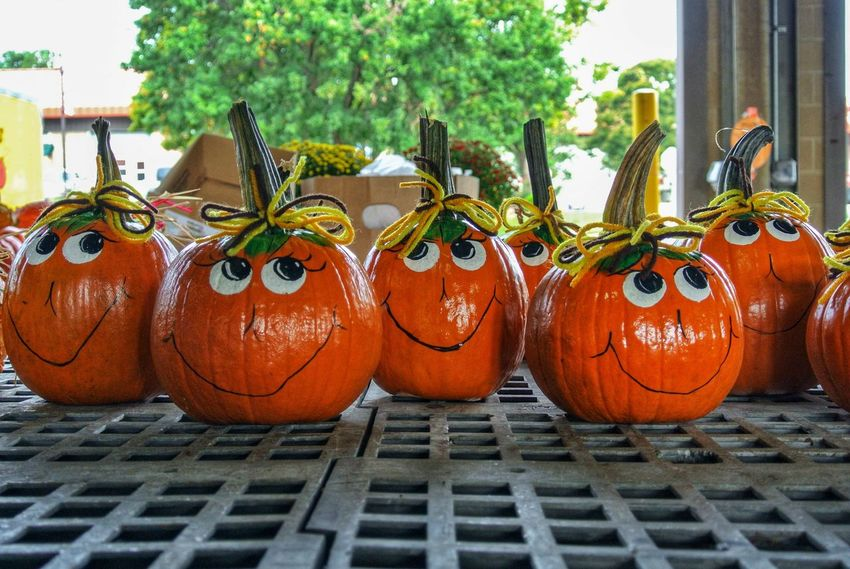 Happy pumpkins Pumpkin Art And Craft No People Day Celebration Creativity Outdoors Food And Drink Architecture Decoration Nature Potted Plant Food Halloween Building Exterior Vegetable Arts Culture And Entertainment Craft Jack O' Lantern Plant