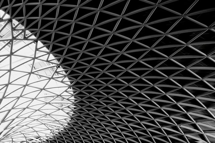Full Frame Pattern Backgrounds Modern Architecture Built Structure Architectural Design Seamless Pattern Ceiling Circular Architectural Detail Architectural Feature Grid Crisscross