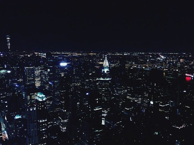Lights The Top  Empire State Building SO FUN Summertime New York NYC LIFE ♥ The City Love Enjoying Life Hello World Illuminated City Architecture Night Built Structure Cityscape Building Exterior City Life Nightlife Clear Sky Building HUAWEI Photo Award: After Dark