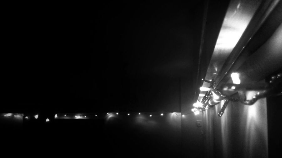 Just put up some Christmas lights at home! Decorations Bw_collection Black And White Christmas Lights