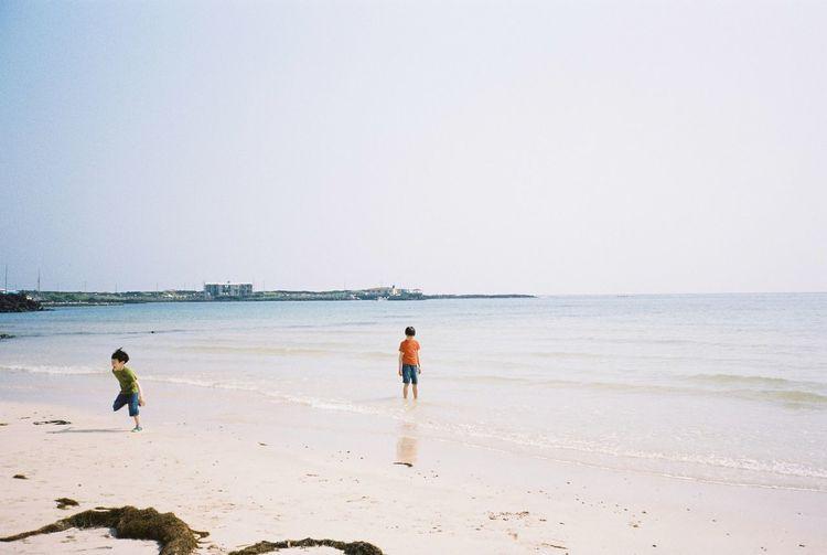 JEJU ISLAND  Korea Kodak Portra 35mm Film Film Contax T3 Beachphotography Kids On The Move Enjoying Life