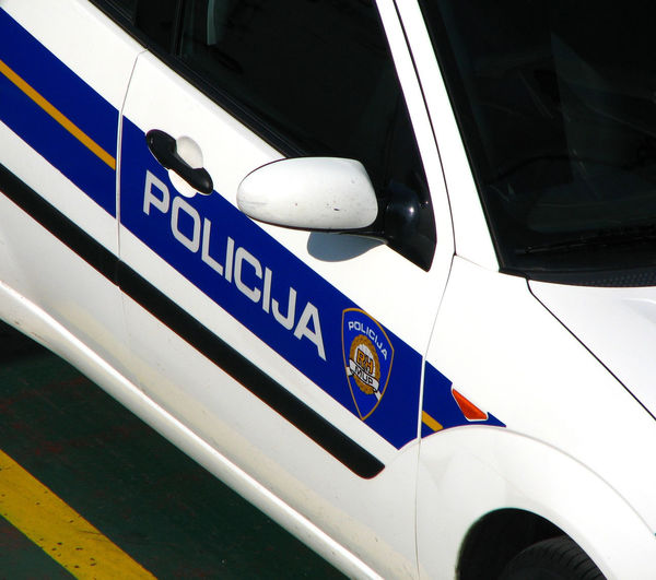 Croatian Police Car Policija ❤⛵ Car Close-up Communication Day Land Vehicle Mode Of Transport No People Outdoors Protection Text Transportation