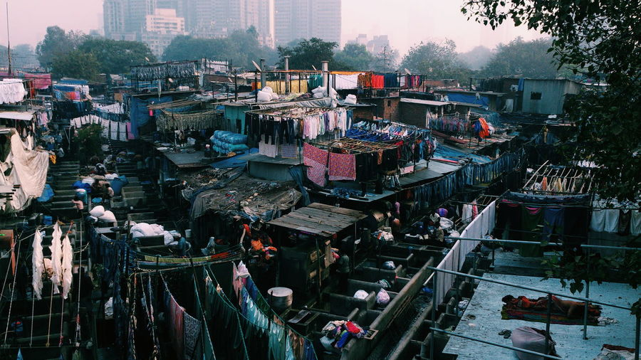 High Angle View Of Dhobi Ghat