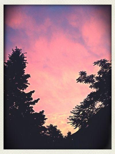 Rosarote Wolken Lila Wolken.