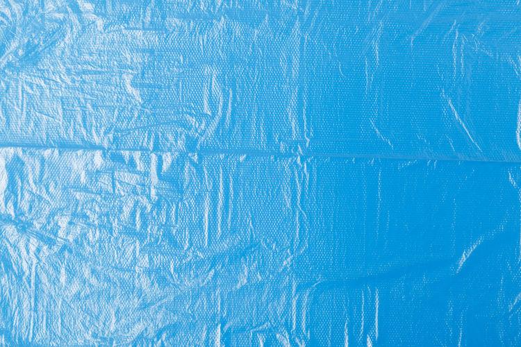 Full frame shot of blue plastic
