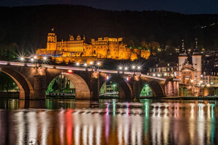 Alte Brücke Heidelberg Fluss HDR Heidelberg, Call It Beautiful Heidelberger Schloss Neckar River Reisen River Réflexion Water Reflections