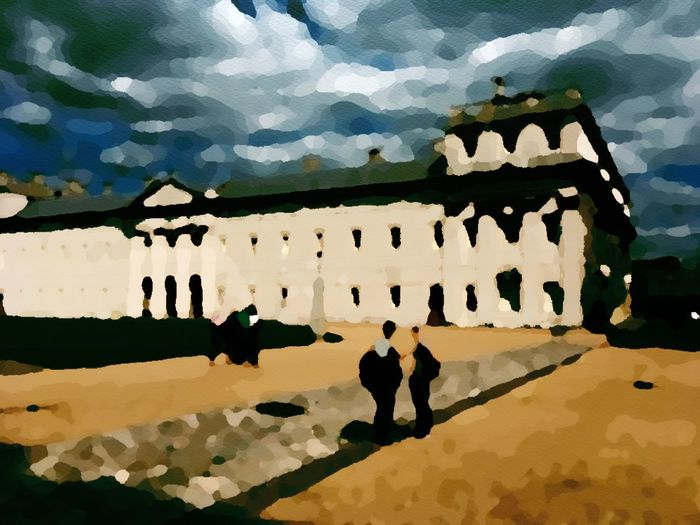 Photo Impressionism ... Greenwich University Artistic Expression using Enlight Architecture Sunlight Cloud - Sky