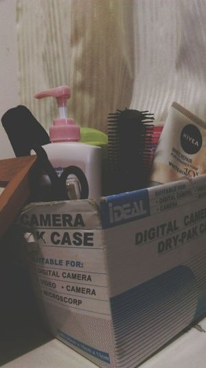 Where is the camera Recycle Cosmetics Paper Box Life Love Earth