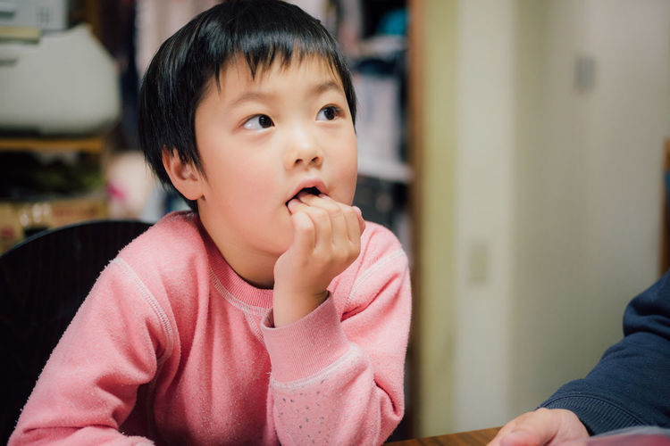Portrait of cute asian child