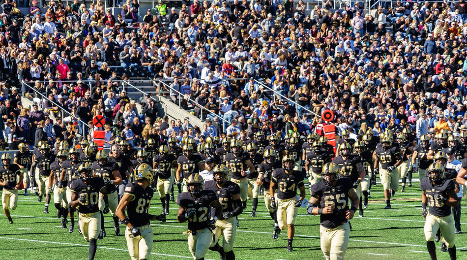 American American Military Academy Army Black Knights Celebration College Crowd Day Football Lafayette Large Group Of People Military Parade Military Uniform Outdoors Parade People Real People Soldier Sport Stadium Togetherness Uniform USA Watching Westpoint