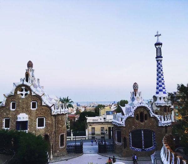 Spain♥ Parc Guell Barcelona Architecture Built Structure Sky Building Exterior Building Clear Sky City