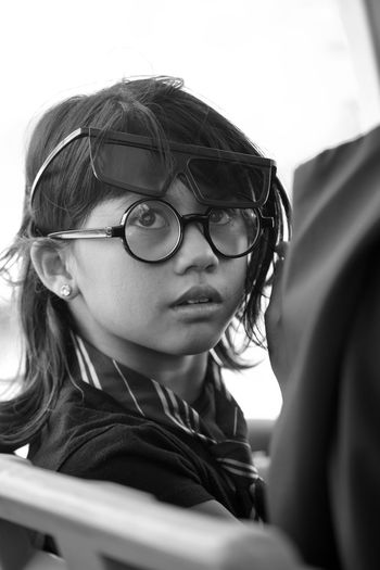 3D Glasses EyeEm Travel Destinations Theme Park EyeEm Gallery Bokeh Attraction Travel Photography EyeEm Selects Fashion Innocence EyeEmBestPics Blackandwhite Glasses Eyeglasses  Portrait Child Childhood Real People One Person Headshot Close-up Girls Leisure Activity Looking Teenager Lifestyles Casual Clothing