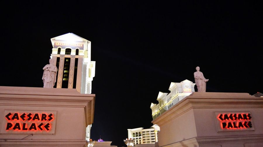 Caesar Palace Cityscape City Politics And Government Urban Skyline Illuminated Business Finance And Industry History Nightlife Architecture Building Exterior