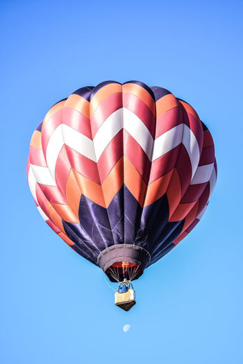 Low angle view of hot air balloon in air