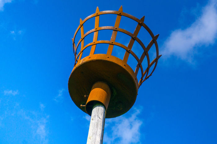Architecture Blue Brazier Built Structure Day England Low Angle View No People Outdoors Sky Uk