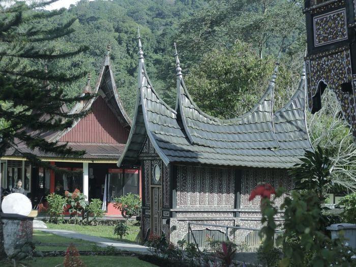 Rumah adat minang Sumatra Barat.indonesia
