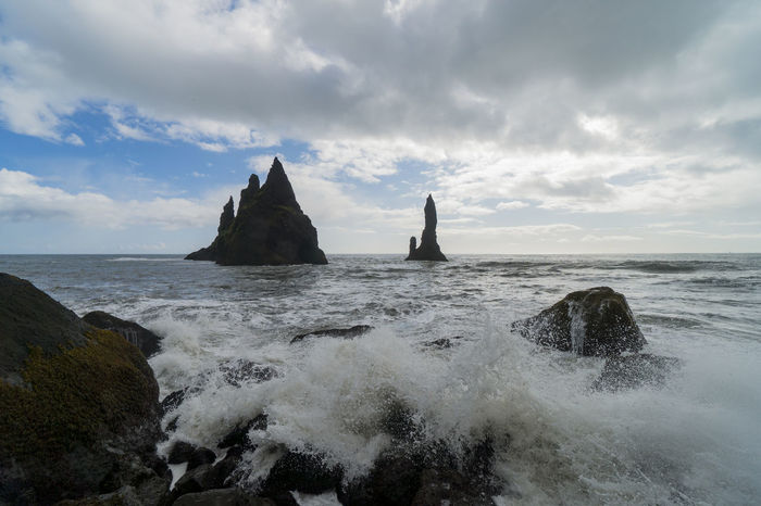 Black Beach Iceland Lost In The Landscape Beauty In Nature Cloud - Sky Day Horizon Over Water Nature No People Outdoors Reynisfjara Rock - Object Scenics Sea Sea And Sky Sky Vik Water Wave