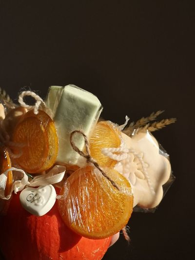 Autumn sweet composition, my hand work Still Life Food Freshness EyeEm Gallery Eyehandwork EyeEm Selects Handworking Stillife Black Background Studio Shot Drink Frozen Food Table Colored Background Close-up Sweet Food Food And Drink Blood Orange Citrus Fruit Orange - Fruit Food Styling Autumn Mood