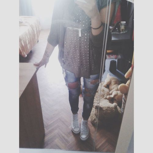 Ripped Jeans Legs Love