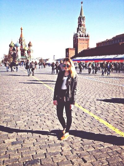 Moscow Street Fashion Model Holiday