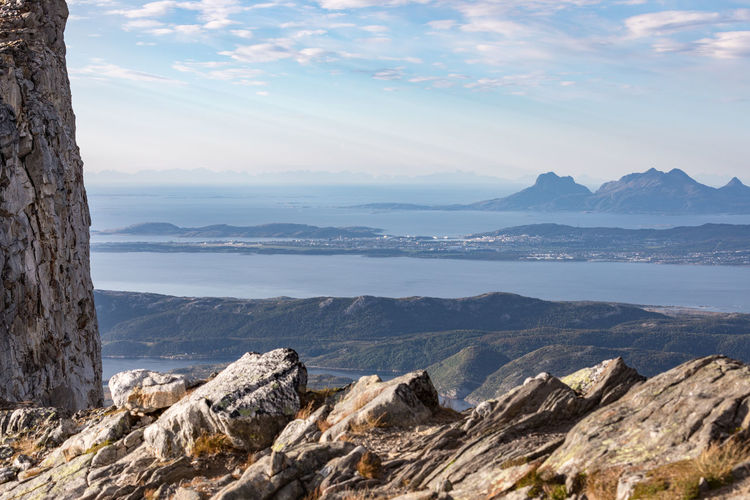 Hiking Northern Norway Norway Rock Rock Formation Silhouette Beauty In Nature Bodø Cloud - Sky Landscape Lofoten Mountain Mountain Peak Mountain Range Nature No People Nordland County Outdoors Rock - Object Scenics Summit View Sunbeam Town Tranquil Scene Water Perspectives On Nature