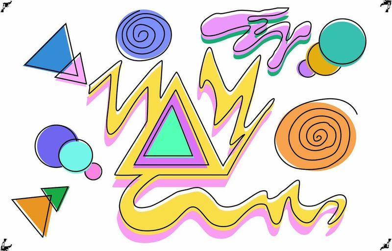 Ilustraciondigital Ai Composicion Triangulocentral Colores Abstracto