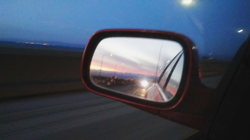Transportation Reflection Side-view Mirror Sunset Car Dusk Cloud - Sky Nature Commute Scenery TakeoverContrast