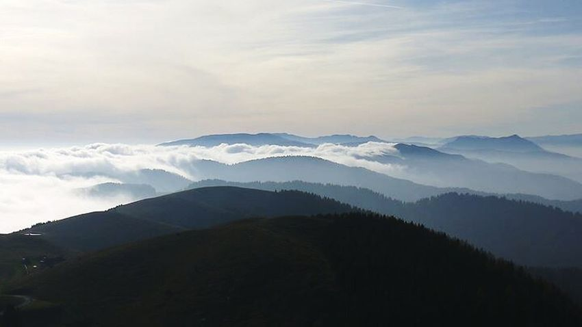 How's The Weather Today? Mountains Sky Sky Collection Clouds Over The Clouds Over The Top Blue Infinity Nature_collection