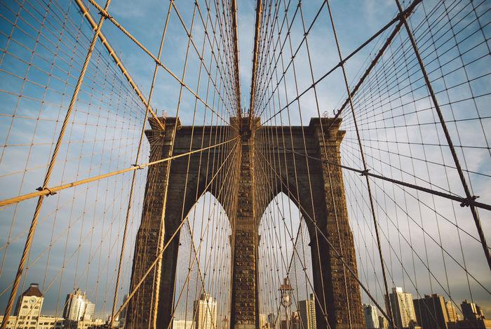 Architecture Bridge Brooklyn Bridge  Brooklyn Bridge / New York City New York New York City Sunset