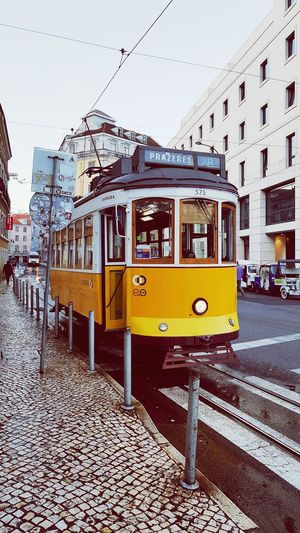 Travel in time Lisboa Portugal Lisbon Yellowtram Portugal Streetphotography City Street Tramway