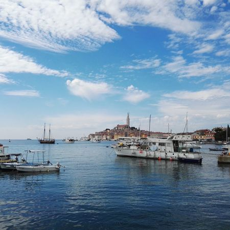 Rovinjcroatia Sea And Sky Old Town Boots Perfect View