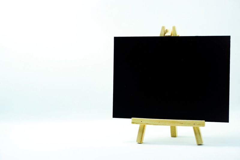 Black chair against white background