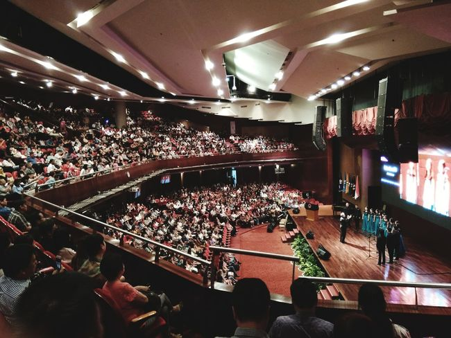 Large Group Of People High Angle View Stadium Arts Culture And Entertainment Indoors  Popular Music Concert People Uph UPHchoir