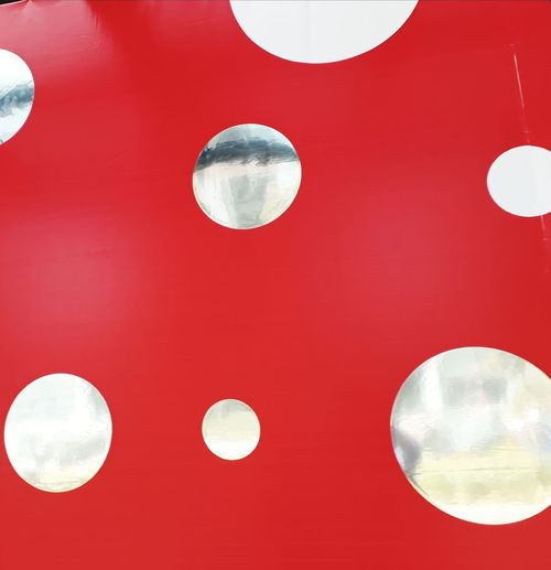 Red and Silver Poker Dot Poker Dot Silver  Silver Colored Red And Silver Red And Silver Colours Red And Silver Poker Dot Circles Silver Circles Red Backgrounds Circle On Red Circle Variation No People Full Frame Backgrounds Colored Background Close-up Hanging Red