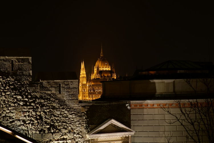 View of cathedral at night