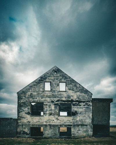 Abandoned House Abandoned Architecture Building Building Exterior Built Structure Cloud - Sky Damaged Day Deterioration History Low Angle View Nature No People Obsolete Old Outdoors Overcast Ruined Run-down Sky