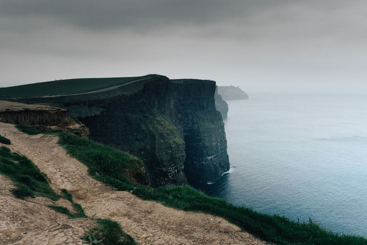Beauty In Nature Cliffs Cliffs Of Moher  Day Horizon Over Water Idyllic Ireland Landscape Mountain Nature No People Outdoors Scenics Sea Sky Tranquil Scene Tranquility Travel Destinations Water