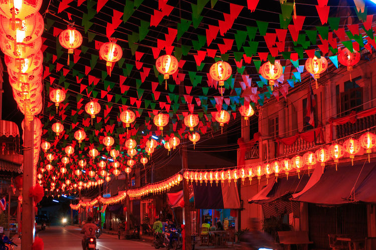 Architecture Built Structure Celebration Chinese Lantern Chinese Lantern Festival Chinese New Year Decoration Event Festival Hanging Holiday Illuminated Incidental People Lantern Lighting Equipment Night Nightlife Paper Lantern Red Traditional Festival