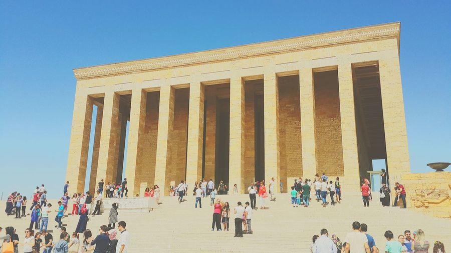 Anıtkabir Tourism Sky Sunny Lifestyles Tourist City Low Angle View Built Structure