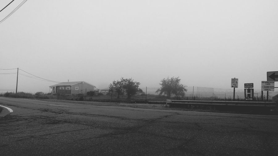 Hazy mornin EyeEm New Jersey Black & White Foggy Morning Fog EyeEm Best Shots - Black + White Jersey Darkness And Light Street Lights Nature