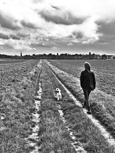 Walk with the dog Urban Escape Nature Black And White Tadaa Community