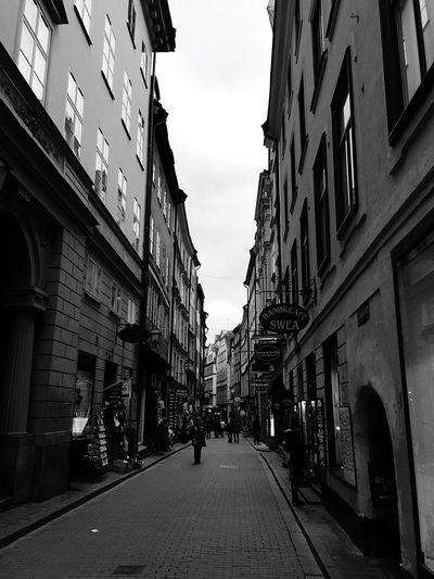 Road Between Buildings In City