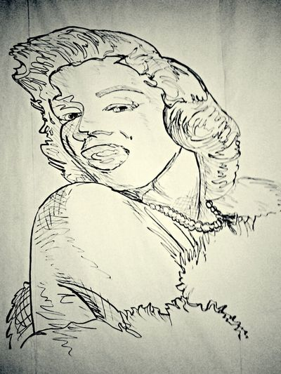 Drawing Sketch Marylin Monroe Painting