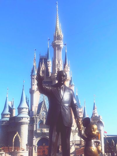 Cinderella Castle Mickie Mouse Walt Disney World Disney DisneyWorld Architecture Built Structure Sky Building Tower Tourism Travel Clear Sky Blue