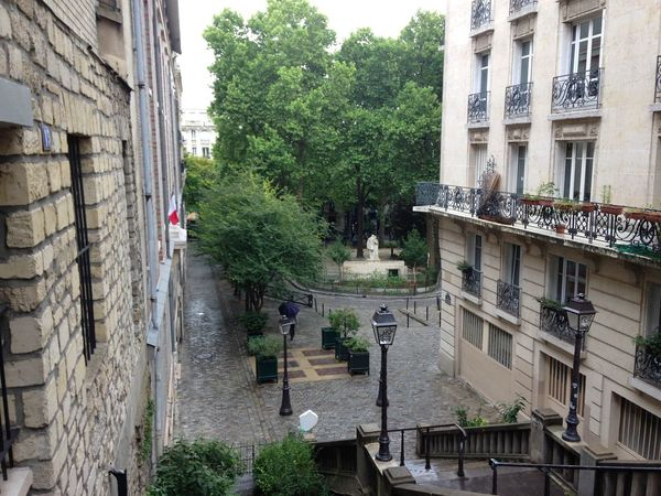 Rainy day in Montmartre Architecture Balcony Building Building Exterior Built Structure City Day Green Montmartre No People Outdoors Paris Rain Rainy Days Summer Tree