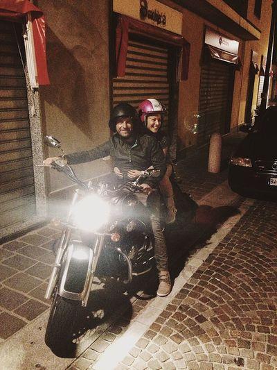 My Friend Motorcycles Night Lights Night