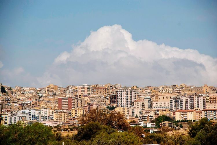 Cloud BIG Sicilia Sicily Italian Italy Agrigento Building Exterior Architecture Built Structure Sky City Cloud - Sky Building Cityscape TOWNSCAPE No People Residential District City Life