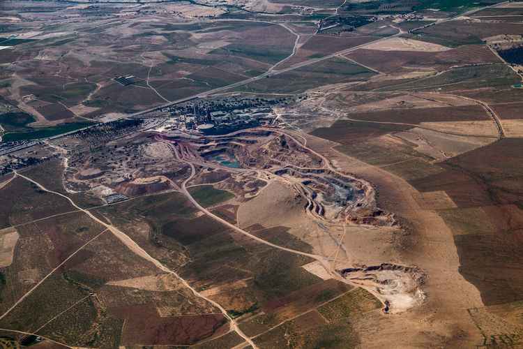 Aerial View Agriculture Day Industry Landscape Mining Industry Nature No People Outdoors Scenics World From Above