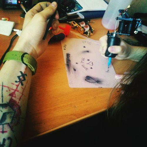 Taking Photos Relaxing Hi! Hello World I'm Tattoo Master Cheese! With My Girl  Love❤ Enjoying Life